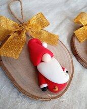 Gnomi natalizi- versione Babbo Natale con cuoricino oro