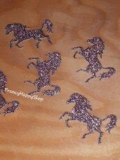 Ordine Riservato x Maria Teresa,coriandoli cavallo marrone glitter