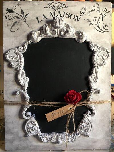 Lavagna quadro french style - shabby chic bianco - blackboard art