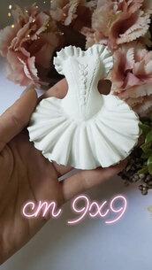 Ballerina in gesso ceramico