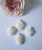 Cupcake in gesso ceramico