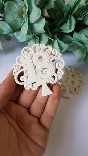 Numero 18 albero della vita in gesso ceramico