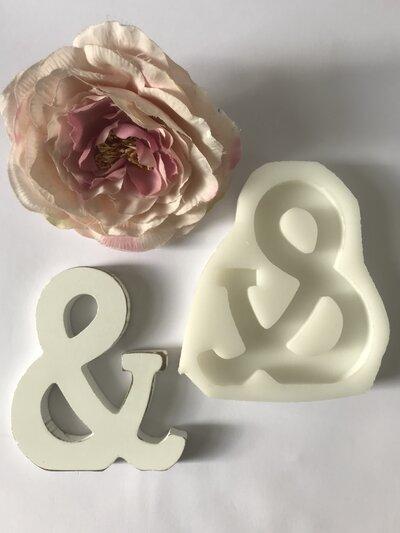 Stampo in silicone lettera liscia da appoggio