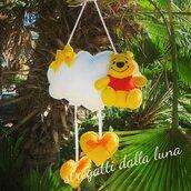 Fiocco nascita Winnie  the Pooh, fiocco nascita pannolenci