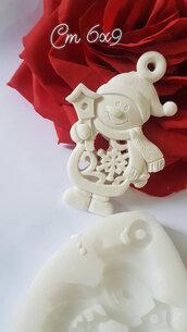Stampo in silicone tema natalizio pupazzo di neve