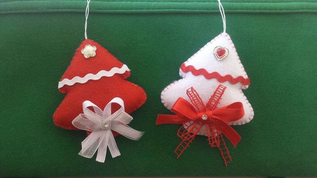 Alberello natalizio in feltro imbottito Natale Albero Palle Decori decorazioni