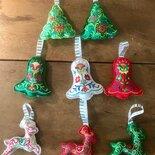 Addobbo natalizio in feltro