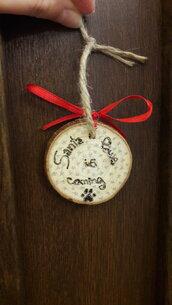 """Decorazione natalizia in legno tema """"cane"""""""
