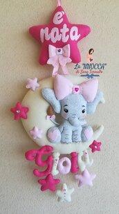 Fiocco nascita baby elefantina
