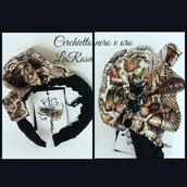 Cerchietto elegante per cerimonia donna nero e oro