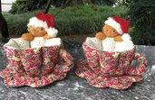 Natale - Tazza in stoffa con gingerbread