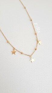 Collana in acciaio con stelle