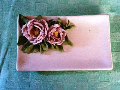 Piattino con rose