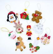 Set decorazioni natalizie mod.03, 10 pezzi, 1 stella GRATIS!