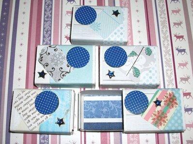 Lotto 6 - Scatoline decorate per Regali di Natale - Quiet Blue - Scrapbooking&Packaging (5pz)