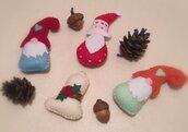 Set 4 addobbi natalizi