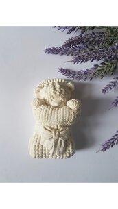 Stampo in silicone orsetto effetto lana