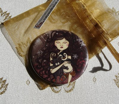 Specchietto-Winter lullaby-pocket mirror 2.25 inch (5.6cm)