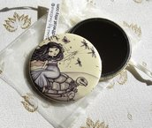 Specchietto-Running to the spring-pocket mirror 2.25 inch (5.6cm)