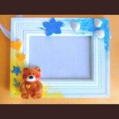 Portafoto orsetto bimbo fatto a mano
