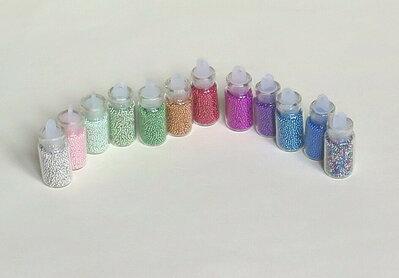 4 Mini bottigline con perline brillanti CIO137