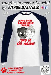 T-shirt manica Lunga LINEA CAGNOLINI- Mordo!