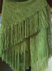 scialle triangolare in lana