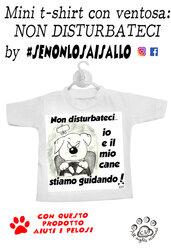 """Mini t-shirt SE NON LO SAI SALLO """"non disturbare"""""""