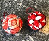 palle per albero Natale, kimekomi balls