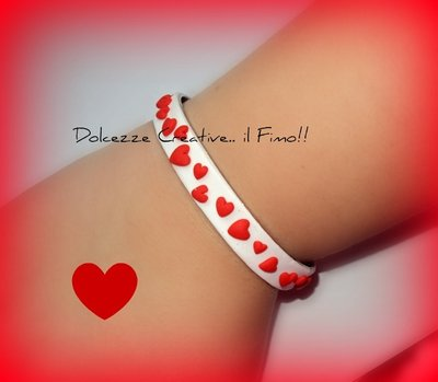 ★★SALDI <3 Bracciale Bianco con cuori - Sweet love! <3 <3