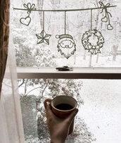 Adesivo Natale su filo con babbo natale stellina ghirlanda