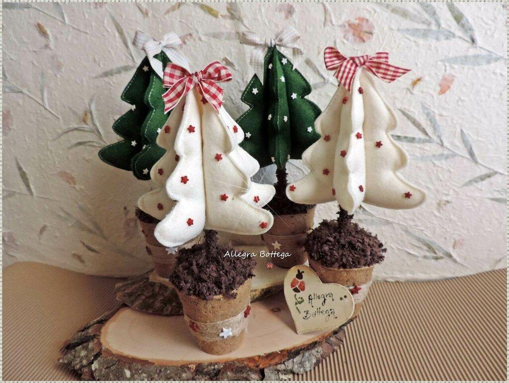 Alberelli Di Natale.Cocci Alberelli Di Natale Feste Natale Di Allegra Bottega I Su Misshobby
