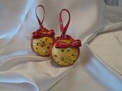 Addobbi palline sfere natalizie in raso con strass multicolor