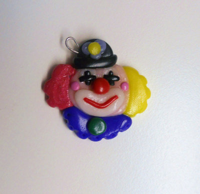 "CHARMS IN FIMO PER BOMBONIERE ""CLOWN"""