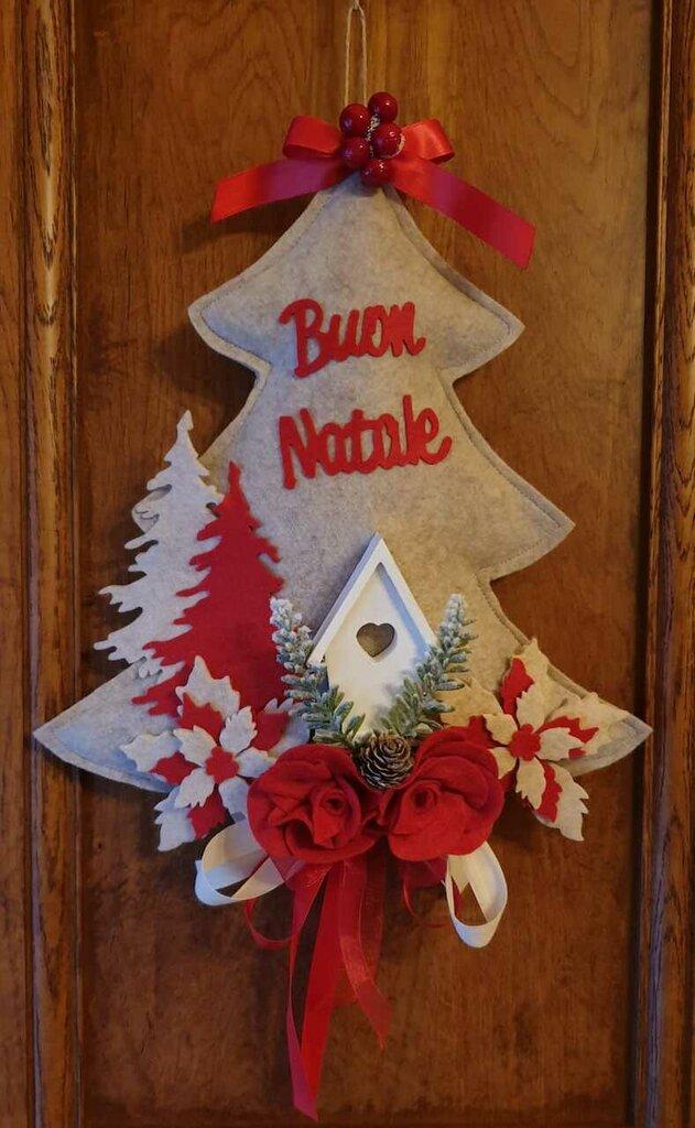 Albero fuoriporta Natalizio - decorazione per Natale