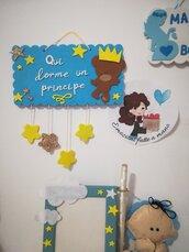TARGHETTA camera stanza bambino.Principe. Personalizzabile ❤️