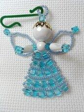 Angelo di perline - decorazione natalizia - fatto a mano