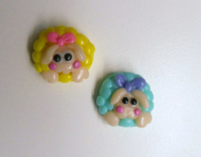"CHARMS IN FIMO PER BOMBONIERE ""SHEEPS"""