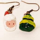 Mini orecchini natalizi in fimo