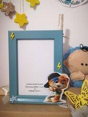 Porta foto cornice Bambini stanza Idea regalo Compleanno Gatto