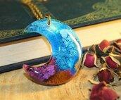 collana luna viola e azzurro