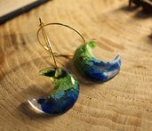 orecchini a cerchio giardino incantato