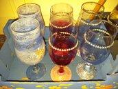 Bicchieri cristallo decorati