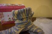 Babbucce in lana , lavorazione elastica 100% lana