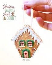 Decorazione natalizia casa di pan di zenzero