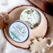 candela di soia mix verde e amazzonite