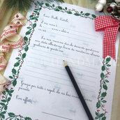 Letterina per bimba a Babbo Natale