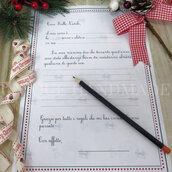 Letterina precompilata per bimba a Babbo Natale