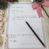 Letterina precompilata per bimbo a Babbo Natale
