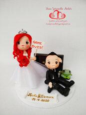 Cake topper sposi personalizzati divertenti